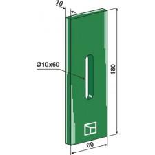 Racloir plastique Greenflex pour rouleaux packer - AG007542
