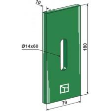 Racloir plastique Greenflex pour rouleaux packer - AG007541