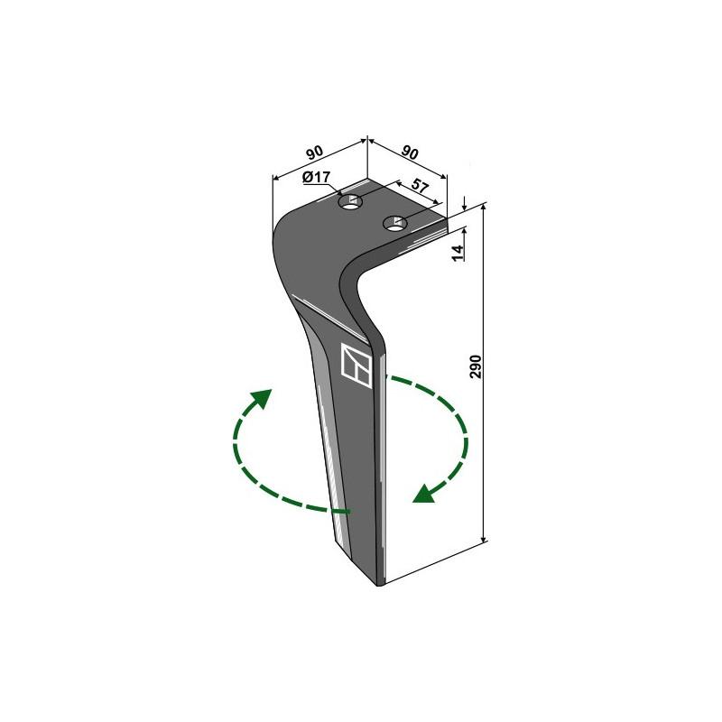 Dent pour herses rotatives, modèle droit - Carraro - 155216