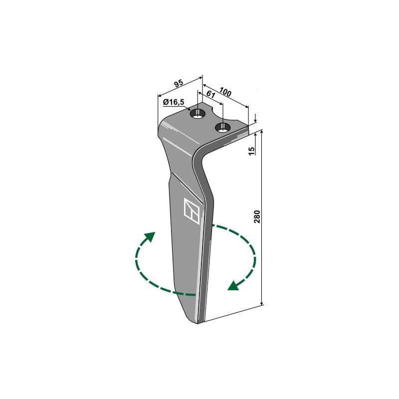 Dent pour herses rotatives, modèle droit - Krone - 492600