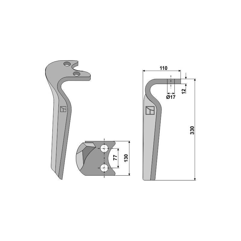 Dent pour herses rotatives, modèle droit - Amazone - 6807400