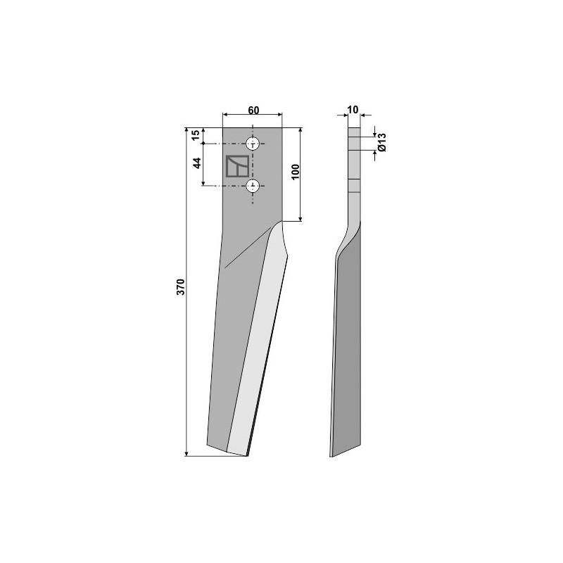 Dent pour herses rotatives, modèle gauche - AG000294
