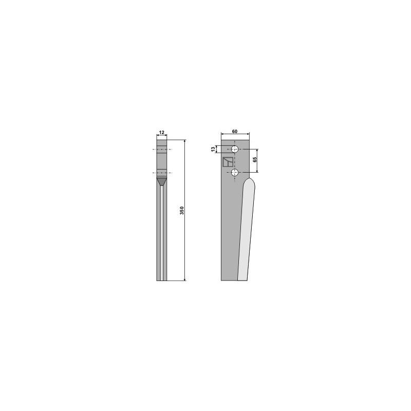 Dent pour herses rotatives - AG000250