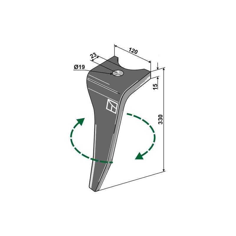 Dent pour herse rotative, modèle droit - Amazone - 976749