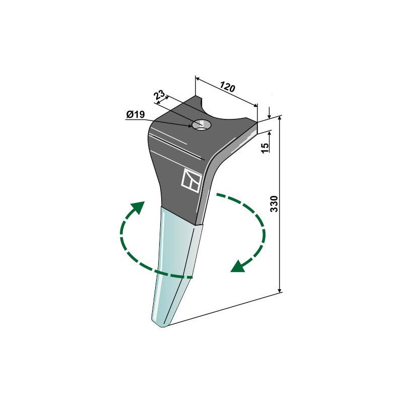 Dent pour herses rotatives (DURAFACE) - modèle droit - Amazone - 6170300
