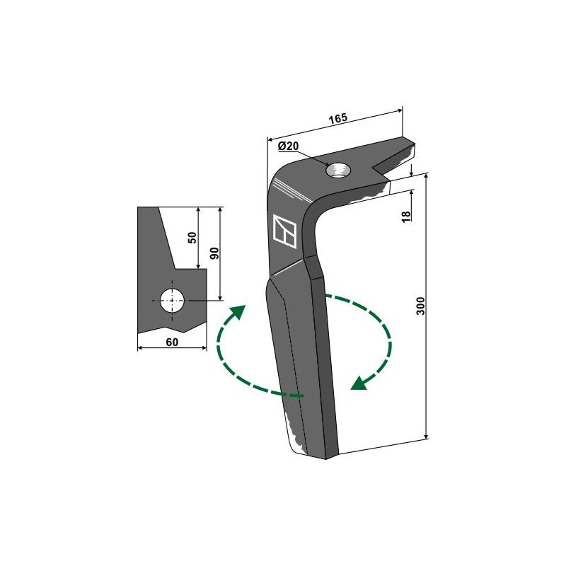 Dent pour herse rotative, modèle droit - Amazone - 965779