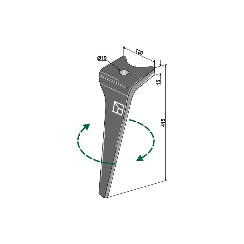 Dent pour herse rotative, modèle droit - Amazone - 952774