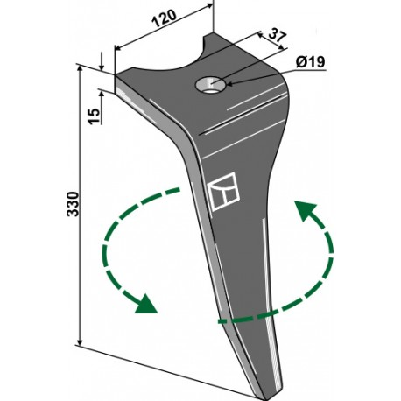 Dent pour herses rotatives, modèle gauche - Amazone - 967496