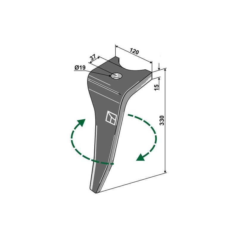 Dent pour herse rotative, modèle droit - Amazone - 967495