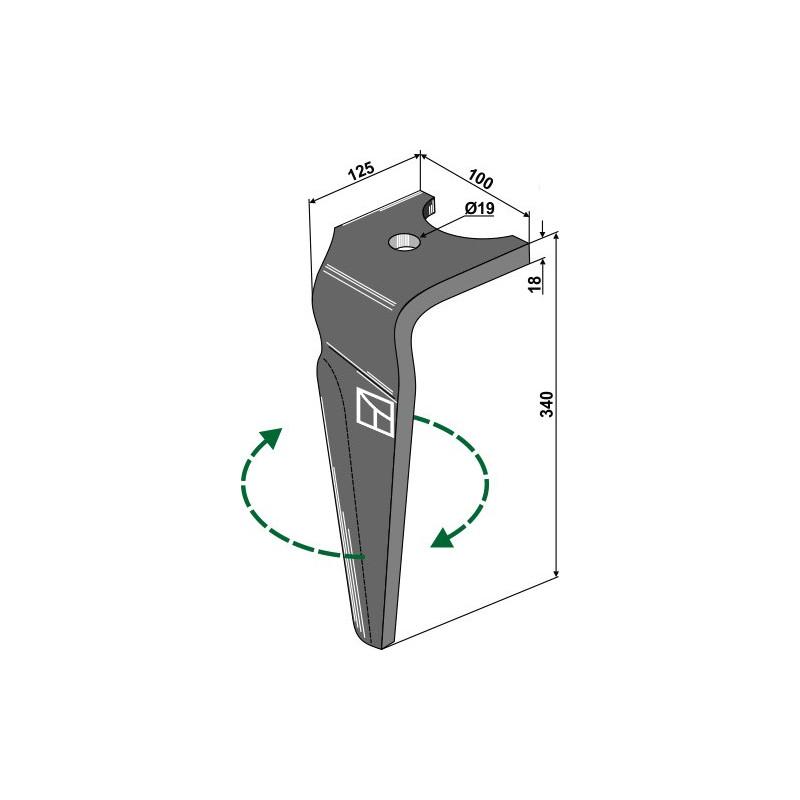 Dent pour herses rotatives, modèle droit - Falc - 541106