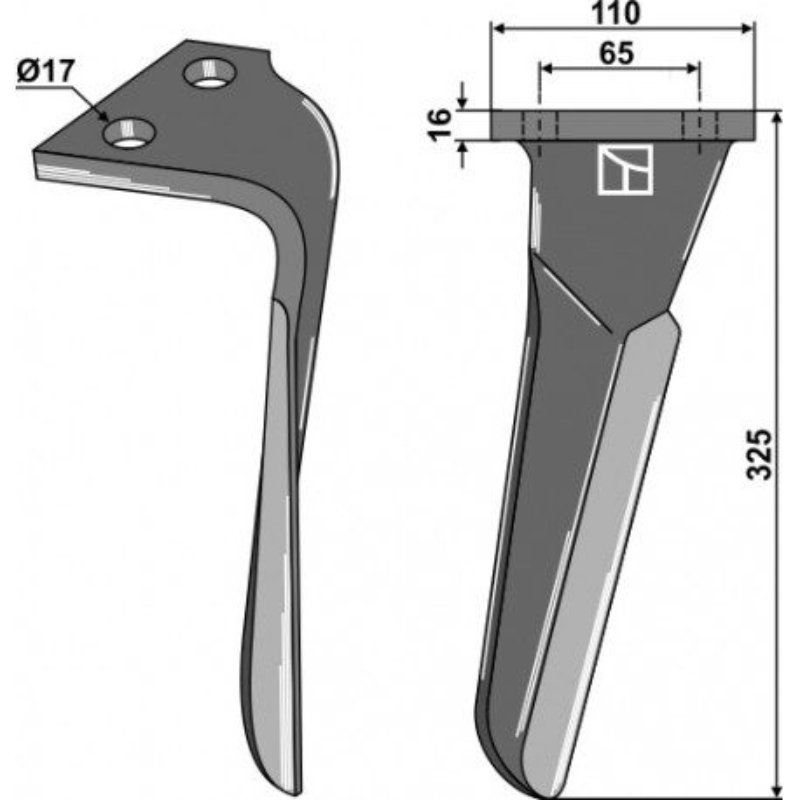 Dent pour herses rotatives, modèle droit - Sulky - 980146