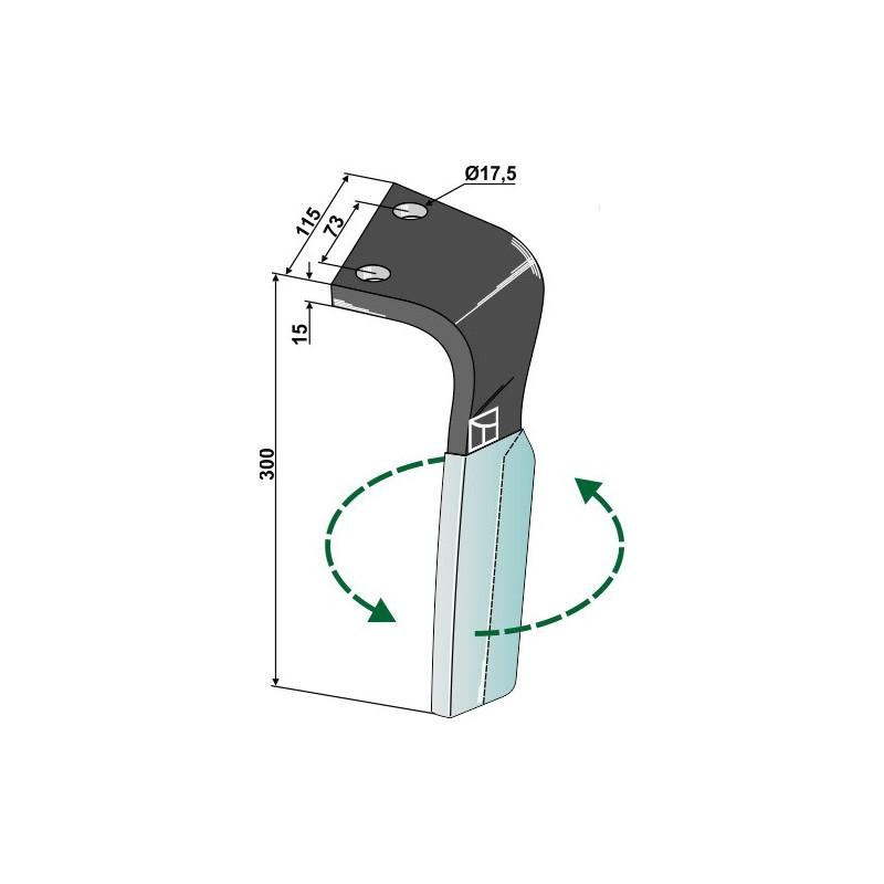 Dent pour herses rotatives  DURAFACE, modèle gauche - Lemken - 3377025