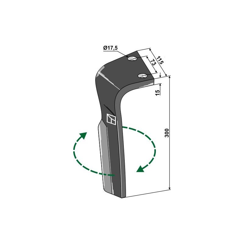 Dent pour herses rotatives, modèle droit - Lemken - 3377022