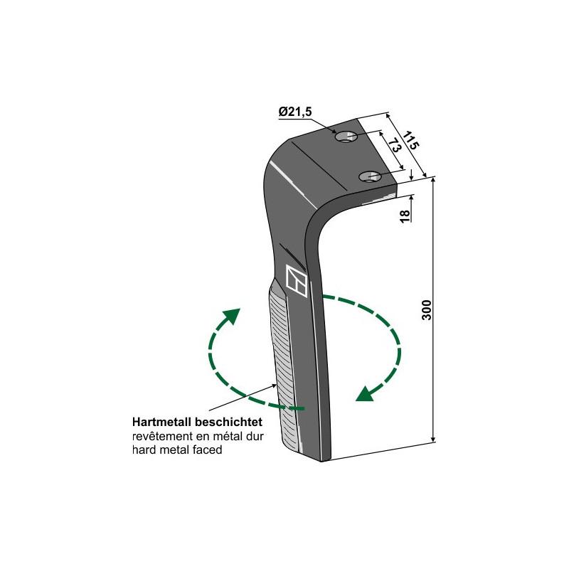 Dent pour herses rotatives, modèle droit - Lemken - 3377034