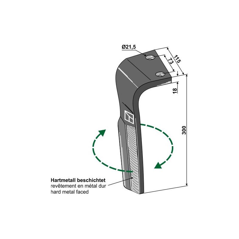 Dent pour herses rotatives, modèle droit - Lemken - 3377036