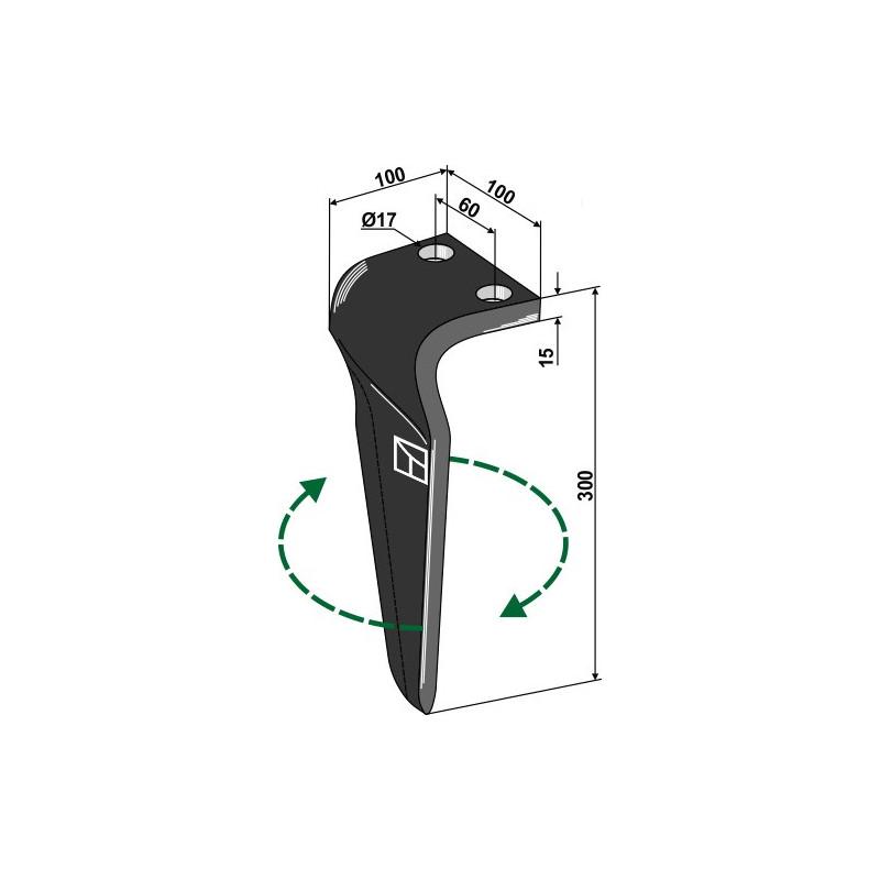 Dent pour herses rotatives, modèle droit - Maschio / Gaspardo - 36100215