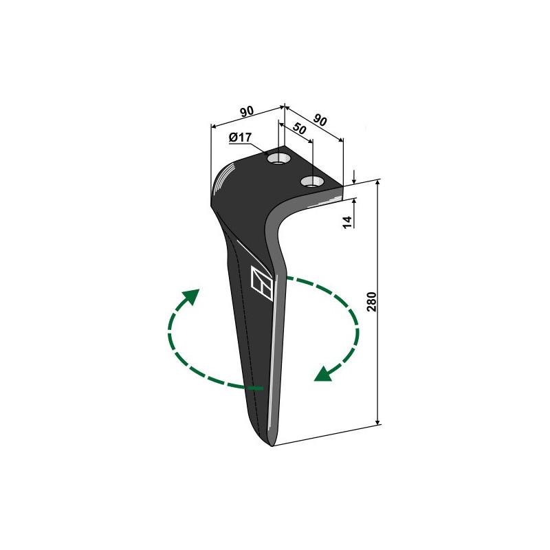 Dent pour herses rotatives, modèle droit - Maschio / Gaspardo - 38100222