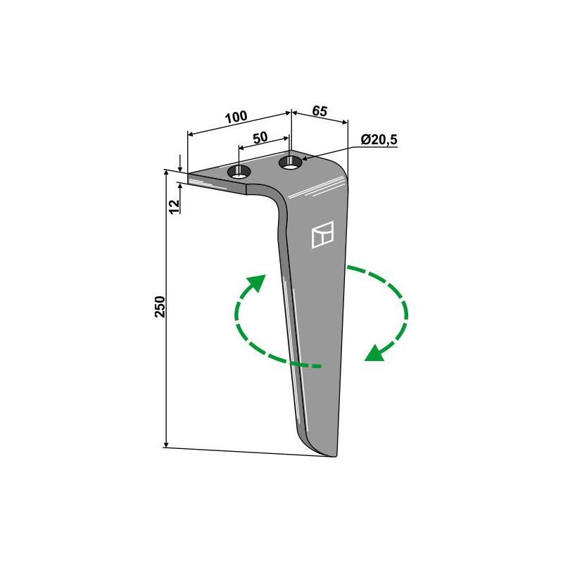 Dent pour herses rotatives, modèle droit - Rinieri - 05636RH