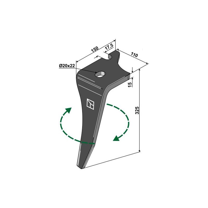 Dent pour herses rotatives, modèle droit - Vogel u. Noot - KZ200001