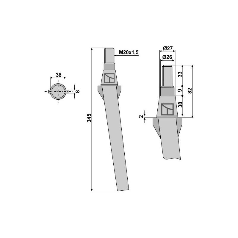 Dent pour herses rotatives - AG000083