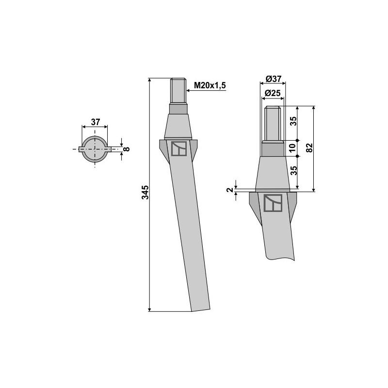 Dent pour herses rotatives - AG000079