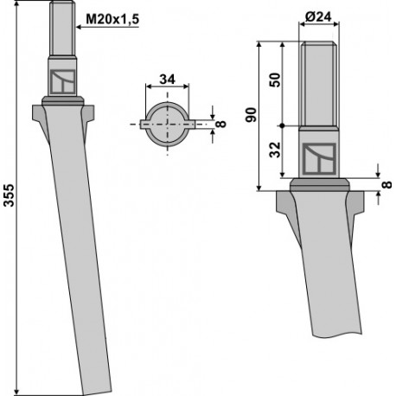 Dent pour herses rotatives - AG000070