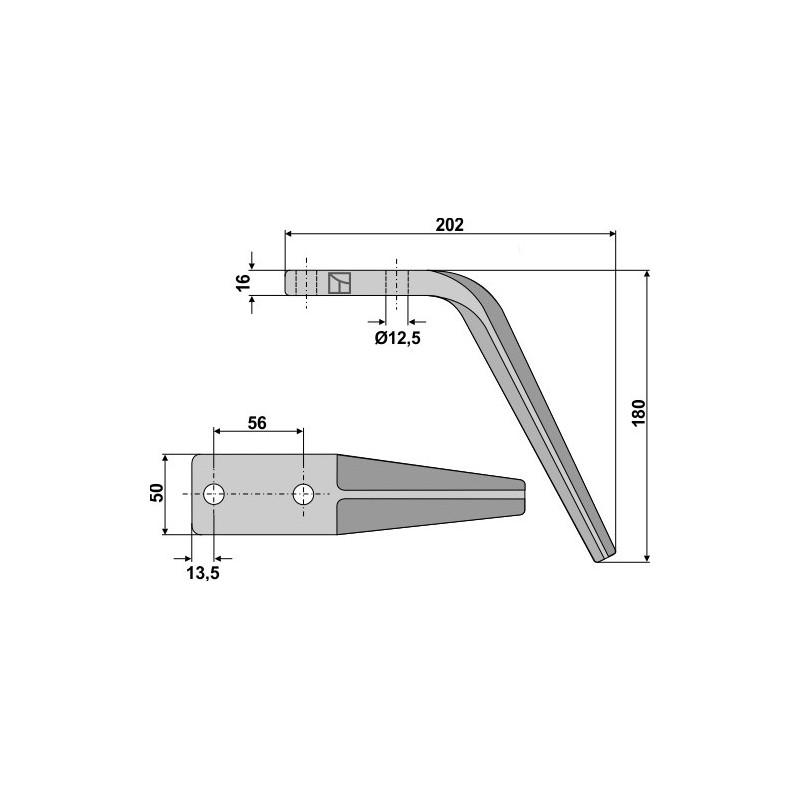 Dent pour herses rotatives - AG000068