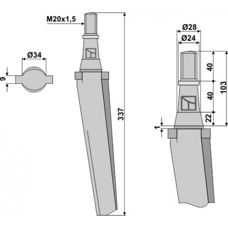 Dent pour herses rotatives - AG000066