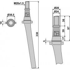 Dent pour herses rotatives - Feraboli - 734 3290