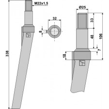 Dent pour herses rotatives - Schmotzer - KSE5495002