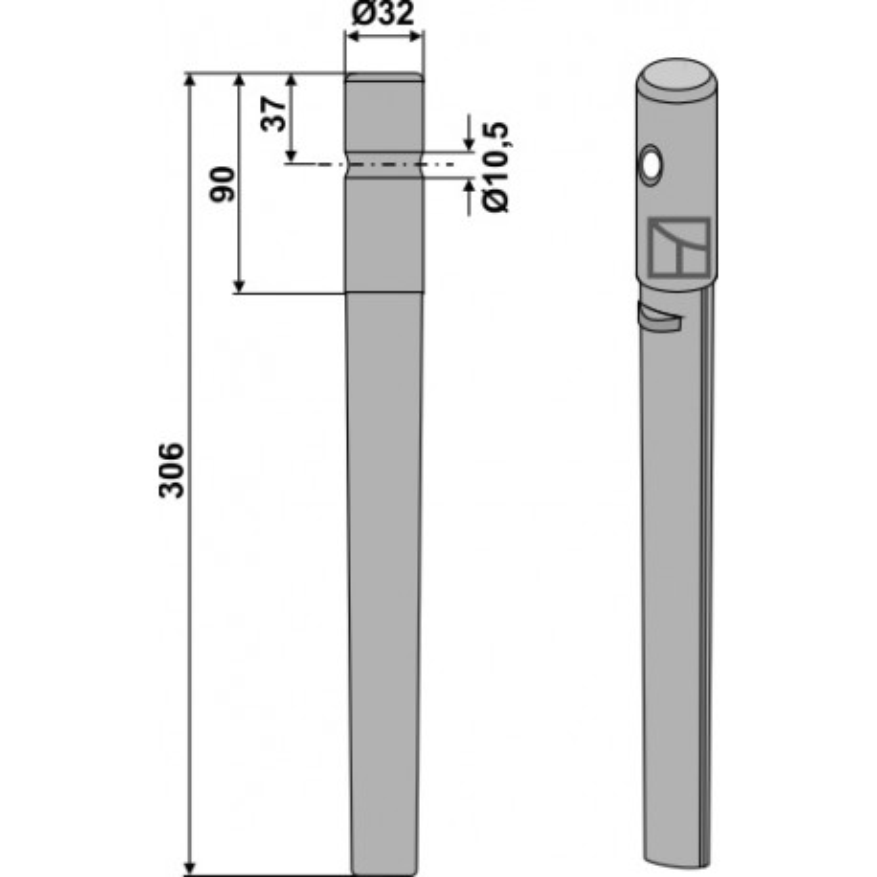 Dent pour herses rotatives - Breviglieri - 0028081