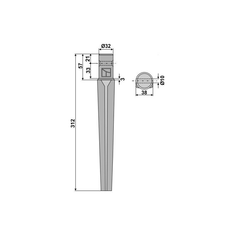 Dent pour herses rotatives - AG000051