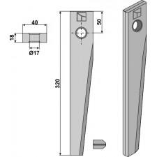 Dent pour herses rotatives pour Serie HR 1000 - Kuhn - 52503700