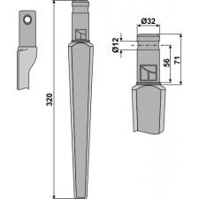 Dent pour herses rotatives - Pegoraro - 006100-01