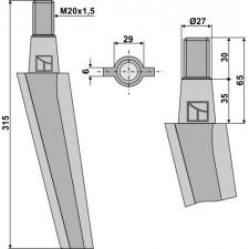 Dent pour herses rotatives - AG000042