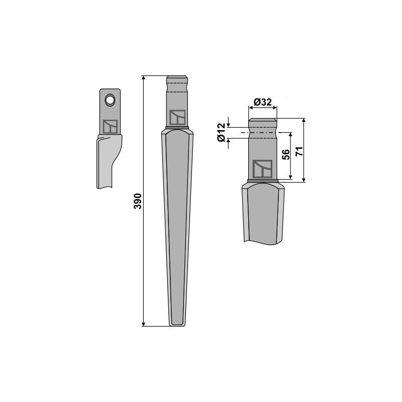 Dent pour herses rotatives - Kongskilde - 143001