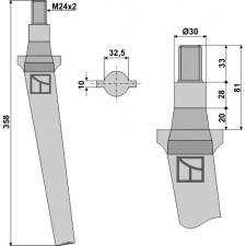 Dent pour herses rotatives - AG000029