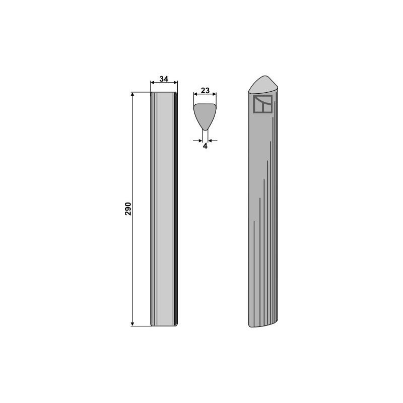 Dent pour herses rotatives - Carraro - 103479