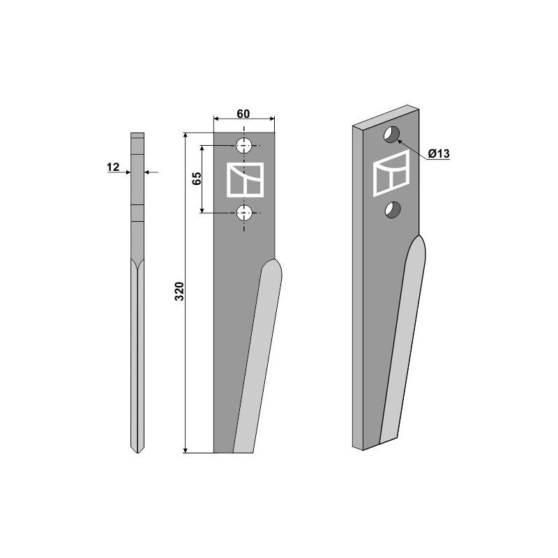 Dent pour herses rotatives - AG000025