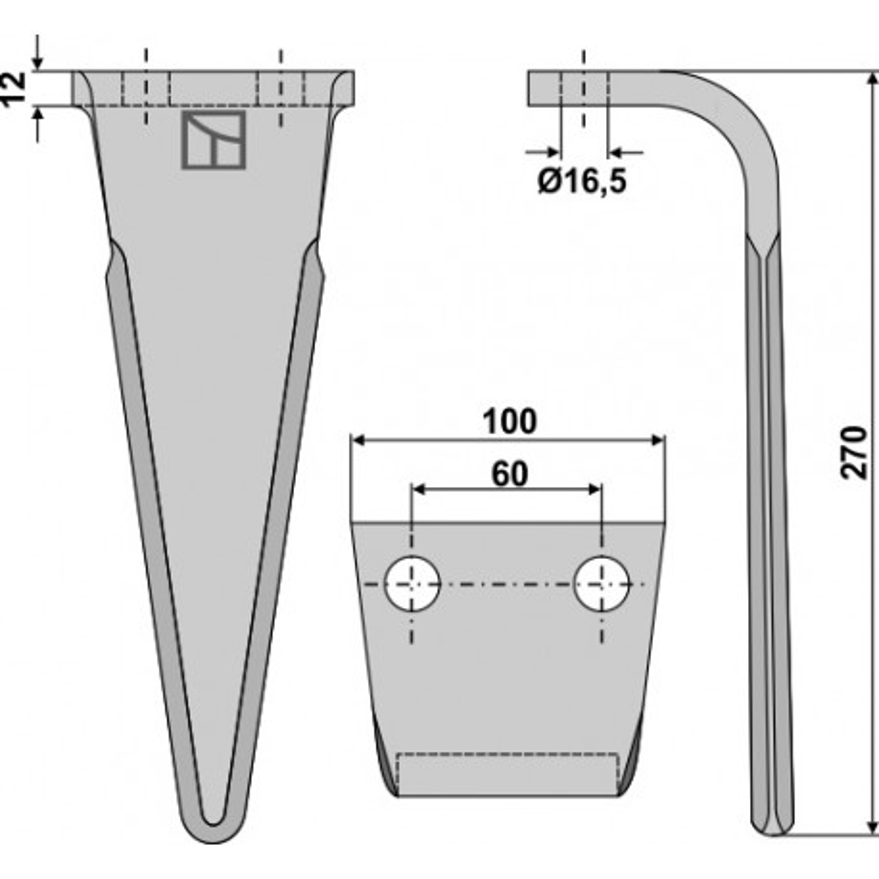 Dent pour herses rotatives - Feraboli - 7A48010