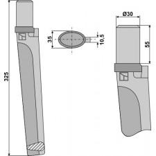 Dent pour herses rotatives - AG000015