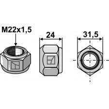 Écrou conique - M22x1,5 - 8.8
