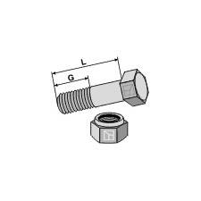 Boulon avec écrou à freinage interne - M10x1x30 - 10.9