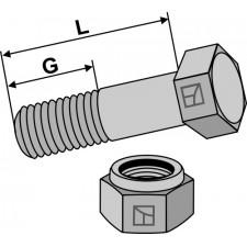 Boulon avec écrou à freinage interne - M14x1,5x35 - 12.9