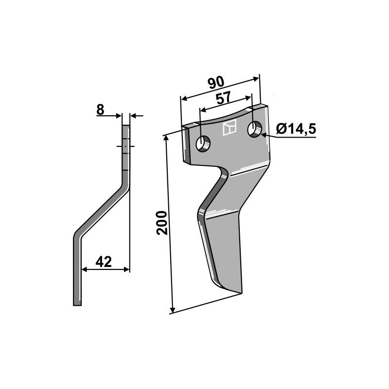 Dent rotative, modèle gauche - AG000735