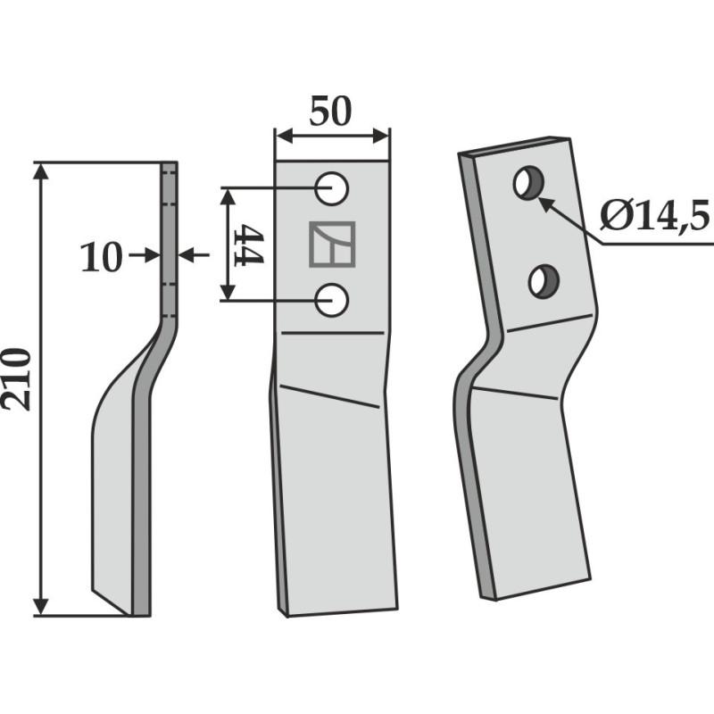 Dent rotative, modèle gauche - Breviglieri - 0071091S