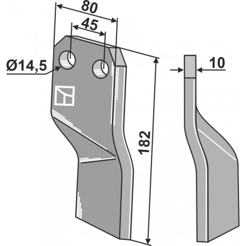 Dent rotative - modèle gauche - AG000727
