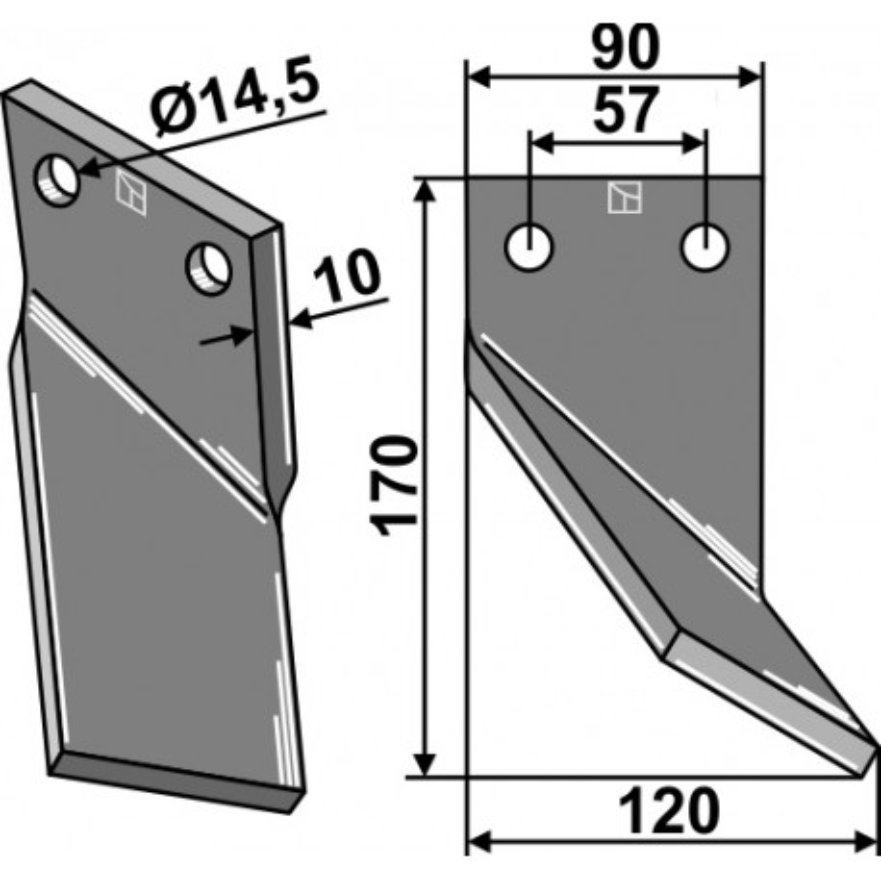 Dent rotative, modèle droit - AG000672
